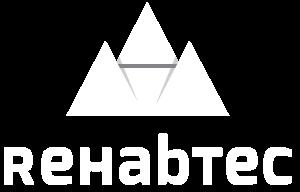 Logo Rehabtec en negativo